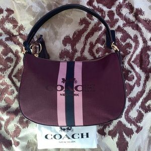Coach Sutton Oxblood Polished Cross Body Bag